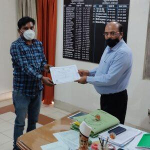 Certificate Distribution at Muzzafarnagar